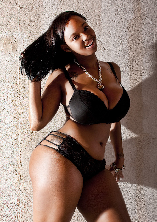 Black women in sexy lingerie